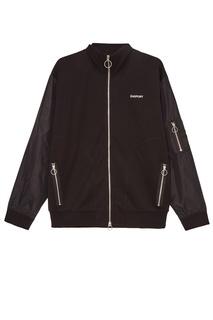 Черная куртка-бомбер и хлопка Zasport
