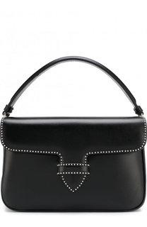 Кожаная сумка с заклепками Alaia