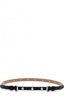 Кожаный ремень с металлическими пряжками и заклепками REDVALENTINO