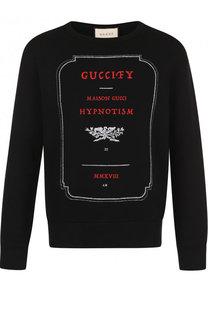 Хлопковый свитшот с принтом Gucci