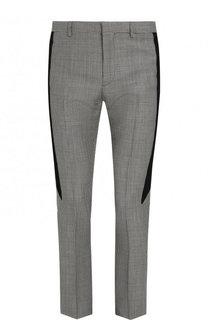 Шерстяные брюки прямого кроя с узором houndstooth Givenchy