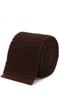 Шелковый вязаный галстук Tom Ford