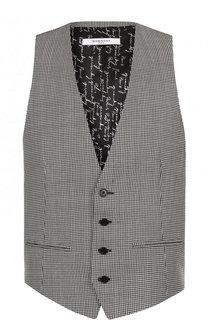 Шерстяной жилет на пуговицах с узором houndstooth Givenchy
