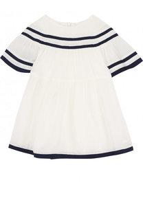 Платье свободного кроя с контрастной отделкой Chloé