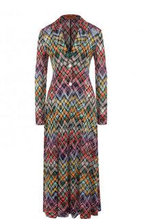 Приталенное вязаное платье-миди Missoni