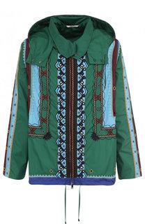 Куртка свободного кроя на молнии с капюшоном Valentino