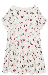 Мини-платье свободного кроя с принтом Monnalisa