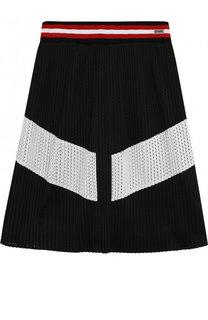 Плиссированная юбка с перфорацией Givenchy