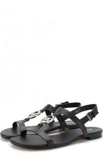Кожаные сандалии Beth с логотипом бренда MICHAEL Michael Kors