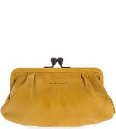 Кожаный кошелек желтого цвета Aunts & Uncles