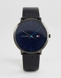 Часы с кожаным ремешком Tommy Hilfiger 1791462 - 40 мм - Черный