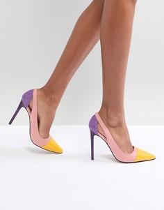 Туфли-лодочки колор блок River Island - Фиолетовый