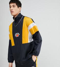 Черная спортивная куртка со вставками и молнией 1/4 ellesse - Черный