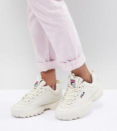 Кроссовки кремового цвета Fila Disruptor - Розовый