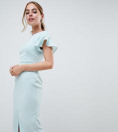Облегающее платье миди с рукавами клеш ASOS DESIGN Petite - Зеленый