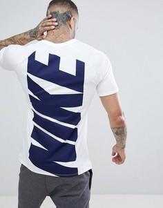 Белая футболка с принтом на спине Nike Hybrid 891978-100 - Белый
