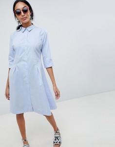 Платье-рубашка b.Young - Синий