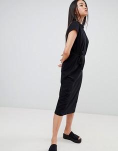Платье с завязкой Cheap Monday Else - Черный