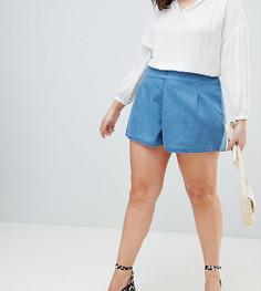 Синяя джинсовая юбка-шорты ASOS DESIGN Curve - Синий