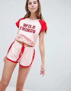 Шорты в стиле casual от ASOS DESIGN Wild Things - Мульти