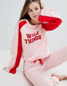 Свитшот в стиле casual с длинными рукавами ASOS DESIGN Wild Things - Мульти