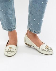 Кожаные туфли на плоской подошве Carvela Mocking - Белый
