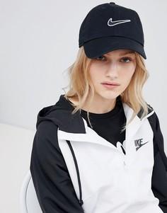 Черная кепка с логотипом Nike - Черный