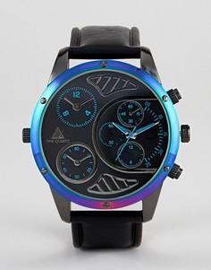 Большие часы с переливающейся отделкой ASOS DESIGN - Черный