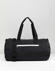Черная сумка с белыми молниями ASOS DESIGN - Черный
