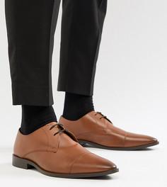 Светло-коричневые кожаные дерби для широкой стопы Frank Wright - Рыжий