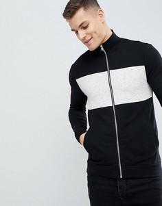 Черная спортивная куртка скинни ASOS DESIGN - Черный