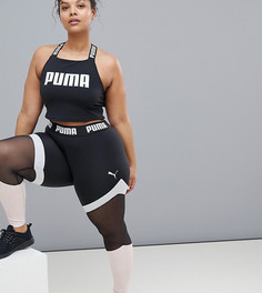 Леггинсы с сетчатыми вставками Puma Plus эксклюзивно для ASOS - Черный