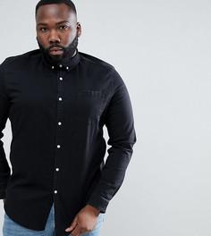 Черная джинсовая рубашка узкого кроя ASOS DESIGN Plus - Черный