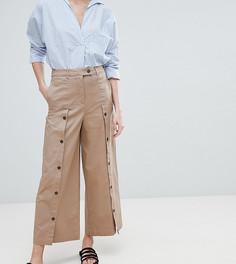 Широкие брюки с пуговицами ASOS DESIGN - Коричневый