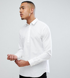 Рубашка классического кроя из ткани на основе льна Selected Homme TALL - Белый
