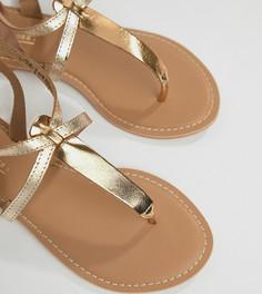 Кожаные сандалии для широкой стопы ASOS DESIGN Forbes - Мульти