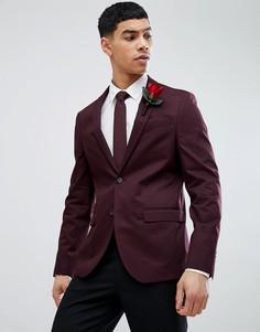 Бордовый облегающий блейзер River Island Wedding - Красный