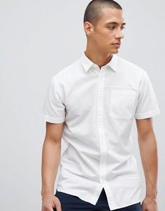 Льняная рубашка с короткими рукавами Selected Homme - Белый