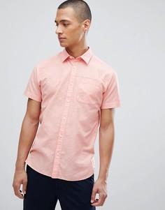 Льняная рубашка с короткими рукавами Selected Homme - Розовый