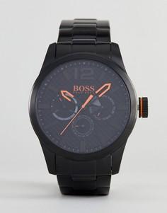 Часы с черным циферблатом BOSS Orange By Hugo Paris - Черный