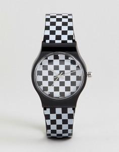 Часы с принтом в шахматную клетку ASOS DESIGN - Мульти