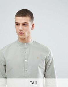 Зеленая узкая оксфордская рубашка с воротником на пуговице Farah TALL Brewer - Зеленый