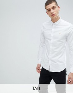 Белая узкая оксфордская рубашка Farah TALL Brewer - Белый