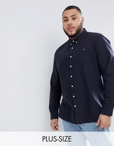 Темно-синяя оксфордская рубашка узкого кроя Farah PLUS Brewer - Темно-синий