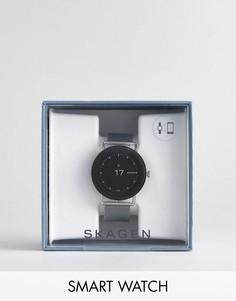 Серебристые смарт-часы с сетчатым браслетом Skagen Connected SKT5000 Falster - Серебряный