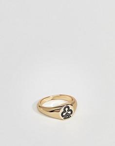 Золотистое кольцо на мизинец с отделкой в виде карточной масти ASOS DESIGN - Золотой