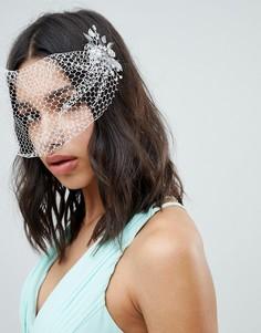 Вуалетка с заколками для волос ASOS DESIGN Bridal - Серебряный