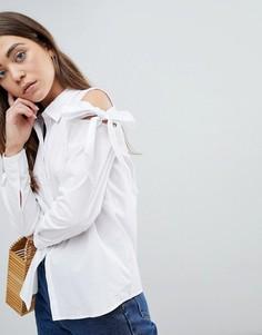 Рубашка с открытыми плечами и завязками JDY Taylor - Белый