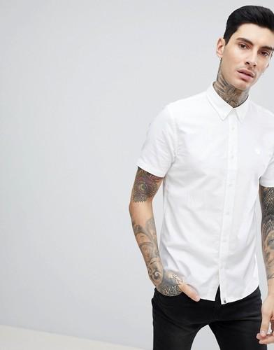 Белая оксфордская рубашка с короткими рукавами Pretty Green Stearling - Белый