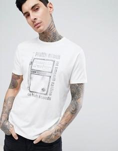 Кремовая футболка с принтом Pretty Green - Белый
